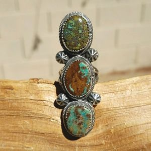 Navajo Turquoise Sterling Silver Handcrafted Ring